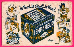 BUVARD - Savon Citron Lempereur - Escaudain (59) - Illust. HAVAS - Le Pur Le Seul Le Vrai - Baignoire - Parfums & Beauté