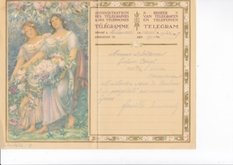 TELEGRAMME DE PHILANTROPIE / 1932 / MONTALD / DEPART LA LOUVIERE - Stamped Stationery