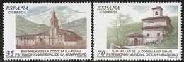 1999-ED. 3662 Y 3663-SERIE COMPLETA-BIENES PATRIMONIO DE LA HUMANIDAD. MONASTERIOS DE S. MILLÁN DE YUSO Y DE SUSO-NUEVO- - 1931-Aujourd'hui: II. République - ....Juan Carlos I