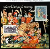 """BLOC CNEP N°58 """" SALON PHILATÉLIQUE DE PRINTEMPS ANGERS 2011 """" TBE NEUF - CNEP"""