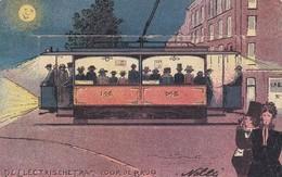 Electrische Tram Voor De Brug Amsterdam 1904 See The Scans - Strassenbahnen