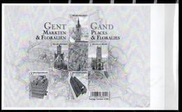 GENT - Markten En Floraliën  -  GAND - Places & Floralies - Feuillets Noir & Blanc