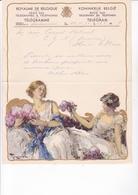 TELEGRAMME DE PHILANTROPIE / 1932 / MONTALD / DEPART LA LOUVIERE / TOUSSAINT - Stamped Stationery