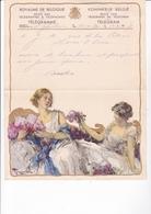 TELEGRAMME DE PHILANTROPIE / 1932 / MONTALD / ST GHISLAIN   / TOUSSAINT - Stamped Stationery
