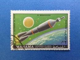 1968 MANAMA SPAZIO SOYUZ 2 Dh FRANCOBOLLO USATO STAMP USED - Space