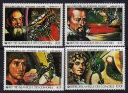 """Comores N° 315 /18 X Exploration Du Système Solaire Sondes """"Voyageur I Et II"""" Les 4 Valeurs  Trace De Charnière Sinon TB - Comores (1975-...)"""