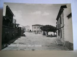 1957 - Sassari - Aglientu - S. Francesco D'Aglientu - Piazza Centrale Animata - Bella Cartolina D'epoca - Sassari