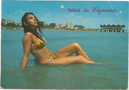 V3183 Lignano Sabbiadoro (Udine) - Ragazza Girl Femme Frau Chica Pin Up / Viaggiata 1974 - Pin-Ups