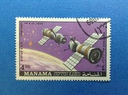 1969 MANAMA SPAZIO SOYUZ 4 Dh FRANCOBOLLO USATO STAMP USED - Space