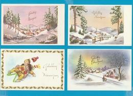 Nieuwjaar, Kerst En Fantasie, Lot Van 70 Postkaarten, Cartes Postales - Postkaarten