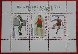Surinam / Suriname 2012 Olympische Spelen Olympic Games (ZBL 1923 Mi Block 113 ) POSTFRIS / MNH ** - Surinam
