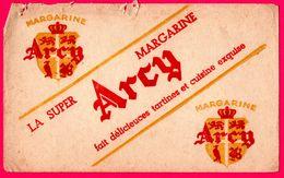 BUVARD - Arcy - La Super Margarine ARCY - Blason Arcy - Alimentaire