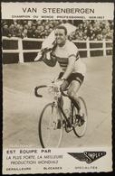 PHOTO VAN STEENBERGEN  CHAMPION DU MONDE 1956-1957  SIMPLEX - Cyclisme