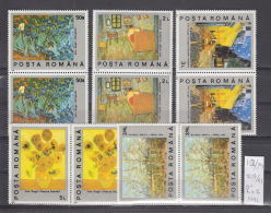 39K152 / 1991 - Michel  Nr. 4637/41 -  Painting  Art Vincent Van Gogh  ** MNH Romania Roumanie - 1948-.... Republics