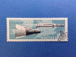 1966 UNGHERIA MAGYAR SPAZIO.STAFFORD CERNAN 1 Ft FRANCOBOLLO USATO STAMP USED - Space