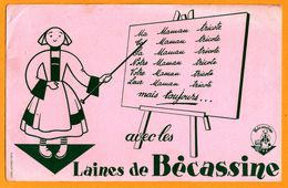 BUVARD - Bécassine - Ma Maman Tricote Avec Les Laines Bécassine - Logo - PUBLI SERVICE PARIS - Alimentaire