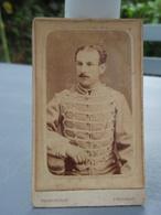 Photo D'un Militaire Hussard Aspirant ? A Identifier. Franconville à Chaumont - War, Military