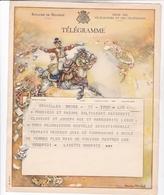 TELEGRAMME DE PHILANTROPIE / CHARLES MICHEL / DEPART BRUXELLES - Stamped Stationery