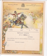 TELEGRAMME DE PHILANTROPIE / CHARLES MICHEL / DEPART LIEGE 1944 - Stamped Stationery