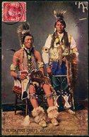 """Cpa  USA  Chefs Indien  Des """"Blackfoot"""",    Beau Plan - Indiens De L'Amerique Du Nord"""