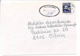 Pašta Pervežimo Primoketi Postage Due Porto Nachgebühr Cover - 1995 Vilnius Centras - Lituanie