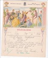 TELEGRAMME DE PHILANTROPIE / BUISSERET / DEPART LIEGE - Stamped Stationery