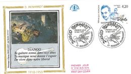 FDC Django Reinhardt (92 Boulogne Billancourt 14/05/1993) - FDC
