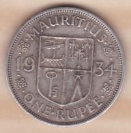 Ile Maurice, 1 Rupee 1934 , George V, En Argent - Maurice