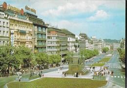 REPUBBLICA CECA - PRAGA - PLACE SAINT VENCESLAO - VIAGGIATA 1992 FRANCOBOLLO ASPORTATO - Repubblica Ceca