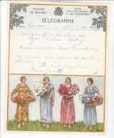 TELEGRAMME DE PHILANTROPIE / CASSIEN ?/ DEPART TOURNAI - Stamped Stationery