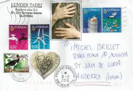 Ecologie Recyclage & Sylvothérapie, Belle Lettre De Slovénie Adressée Andorra,avec Timbre à Date Arrivée - Slovénie