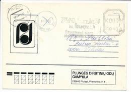 Commercial Cover Meter Freistempel - 11 November 1992 Plunge - Lithuania