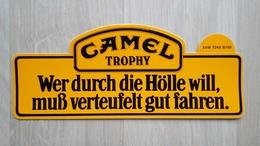 Aufkleber Mit Zigaretten-Werbung (Camel-Trophy-Aktion Aus Den 1980ern) - Aufkleber