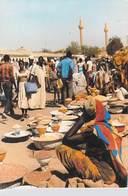 Afrique-TCHAD - N'DJAMENA Une Vue Du Marché (B)  (Timbre Stamp République Du TCHAD)(Combier Photo Sailly)   *PRIX FIXE - Ciad