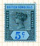 AMERIQUE CENTRALE - HONDURAS - (Colonie Britannique) - 1900-01 - N° 51 - 5 C. Noir Et Outremer S. Azuré - (Victoria) - Honduras