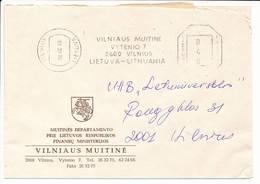 Commercial Cover Meter Freistempel / Customs Department - 15 February 1995 Vilnius - Lithuania