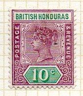 AMERIQUE CENTRALE - HONDURAS - (Colonie Britannique) - 1900-01 - N° 52 - 10 C. Violet-brun Et Vert- (Victoria) - Honduras