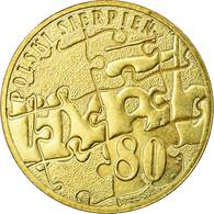 Monnaie, Pologne, August Of 1980, 2 Zlote, 2010, Warsaw, TTB, Laiton, KM:737 - Pologne
