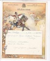 TELEGRAMME DE PHILANTROPIE / CHARLES MICHEL / DEPART ANTOING - Feuilles Télégraphiques
