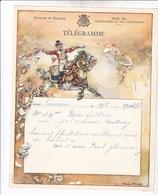 TELEGRAMME DE PHILANTROPIE / CHARLES MICHEL / DEPART TOURNAI - Stamped Stationery