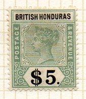 AMERIQUE CENTRALE - HONDURAS - (Colonie Britannique) - 1900-01 - N° 56 - 5 D. Vert Et Noir - (Victoria) - Honduras