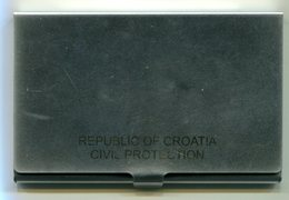 Porte Cartes De Visite De Protection Civile De La République De Croatie - Pompiers