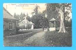 PK/CP  ENGHIEN  1915 :  La Ferme Gustave Lemercier Et Pavillon De Chasse. STEMPEL : ENGHIEN 15 EDINGEN. - Edingen