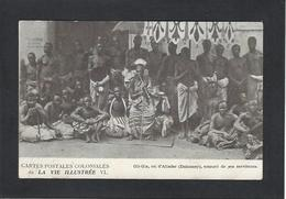 CPA DAHOMEY Afrique Noire Gli Gla Roi King Circulé - Dahomey