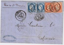 "1876, Lettre "" NANTES "" Pour Chili  , #a1505 - 1849-1876: Classic Period"