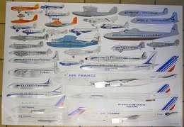 Affiche Poster Air France 34 Avions 1933-1983 Avec Latécoère à Ses Débuts SUPERBE Dessins Philippe Mitschké 100x69 Cms - Posters