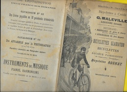 Catalogue 1895 Cycles Gladiator, Peugeot, Rochet... MALLEVILLE Libourne 22 Pages + Couverture Format 25 X 16 Cm Env.. - Cyclisme
