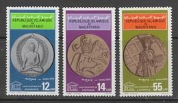 SERIE NEUVE DE MAURITANIE - SAUVEGARDE DU PATRIMOINE CULTUREL MONDIAL UNESCO N° Y&T415 A 417 - UNESCO