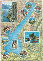 V3194 Lago Di Garda - Carta Geografica Map Carte Geographique / Viaggiata - Carte Geografiche