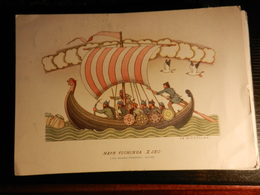 19826) NAVE VICHINGA X SEC ILLUSTRATORE NICOULINE NON VIAGGIATA - Illustratori & Fotografie